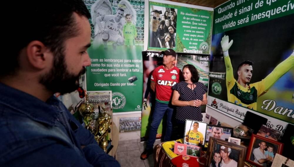 Ilaídes e Eunício Padilha, pais do goleiro Danilo